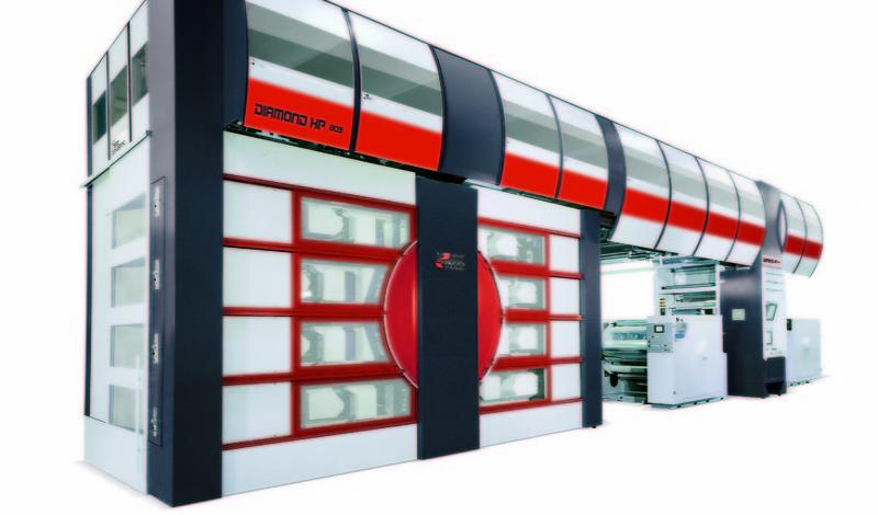 Diamond HP - флексопечатна машина с централен цилиндър и висока скорост на печат за къси тиражи