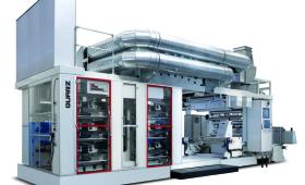 Quarz - флексопечатна машина с вертикално разположение на печатните секции
