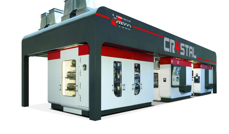 UTECO Crystal - флексопечатна машина с централен цилиндър и високо ниво на автоматизация