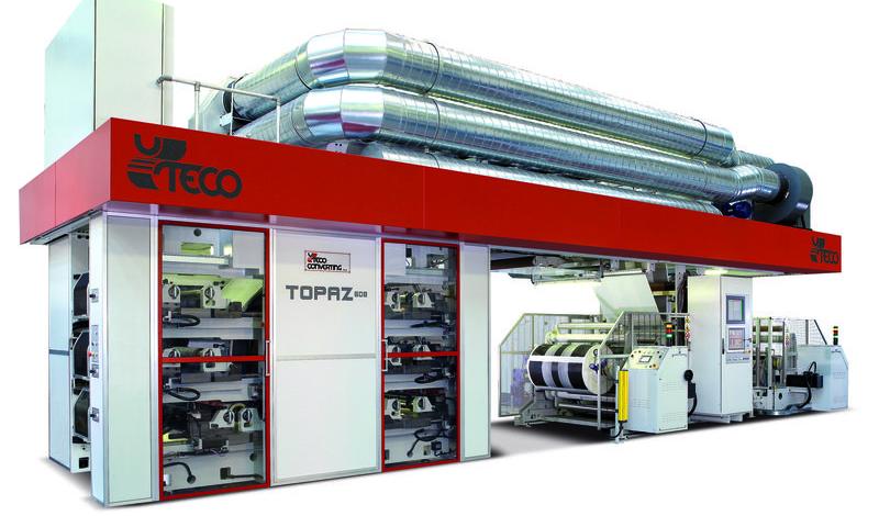 Topaz - модулна флексопечатна машина с централен цилиндър
