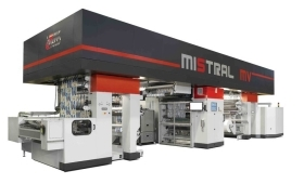 UTECO Mistral MV - машина за лакиране и ламиниране в линия