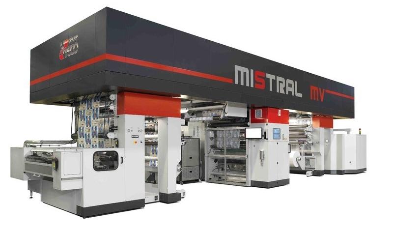 Mistral MV - машина за лакиране и ламиниране в линия
