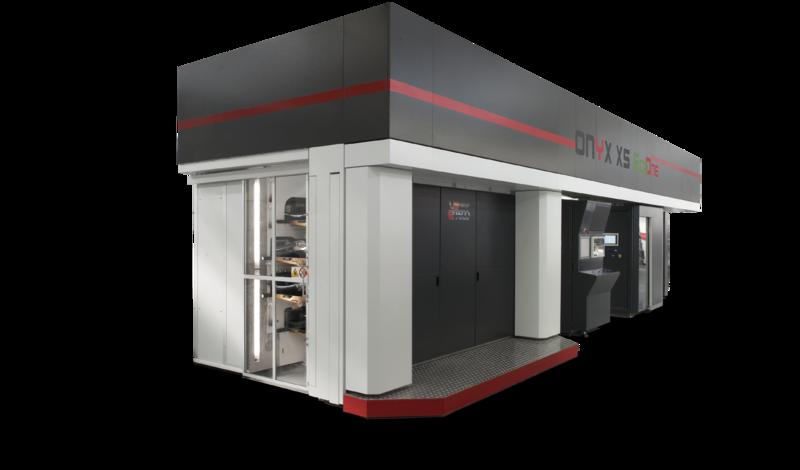 Onyx XS EcoOne - компактна флексо печатна машина с централен цилиндър и EB мастила